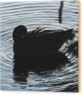 Duck Waves Wood Print
