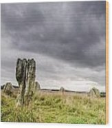 Duddo Prehistoric Stone Cicle Wood Print