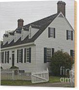 Dudley Diggs House Yorktown Wood Print