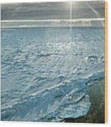 Due South 1.30am Ross Sea Wood Print