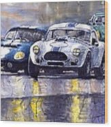 Duel Ac Cobra And Shelby Daytona Coupe 1965 Wood Print