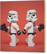 Dueling Troopers Wood Print