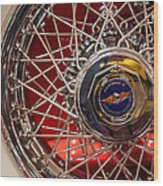 Duesenberg Wheel Wood Print