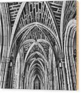 Duke Chapel Arches Wood Print