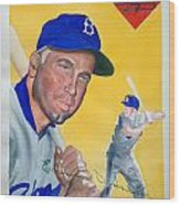 Duke Snider Wood Print