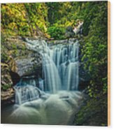 Dukes Creek Falls Wood Print