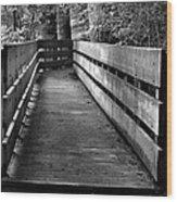 Dukes Creek Falls Walkway Wood Print
