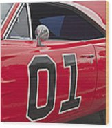 Dukes Of Hazard General Lee Wood Print