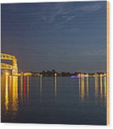 Duluth Harbor At Night Wood Print