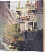Duluth Harbor Wood Print