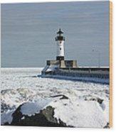 Duluth Harbor Lighthouse Wood Print