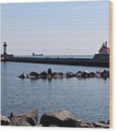 Duluth Harbor Lighthouses  Wood Print