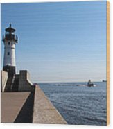 Duluth Harbor North Breakwater Lighthouse Wood Print