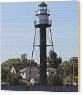 Duluth Harbor South Breakwater Inner Lighthouse Wood Print
