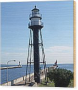 Duluth Mn Lighthouses  Wood Print