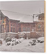 Duluth Winter Blackwoods Grill Wood Print
