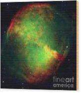 Dumbbell Nebula Wood Print