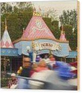Dumbo Flying Elephants Fantasyland Signage Disneyland 02 Wood Print