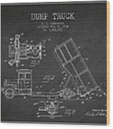 Dump Truck Patent Drawing From 1934 Wood Print