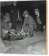 Dumping Whiskey In Mississippi 1951 Wood Print