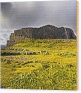 Dun Aonghasa - Iron Age Irish Ruins Wood Print by Mark E Tisdale
