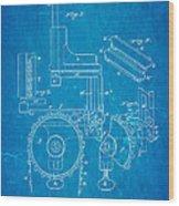 Duncan Addressing Machine Patent Art 1896 Blueprint Wood Print