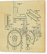 Duncan Addressing Machine Patent Art 1896 Wood Print