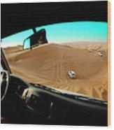 Dune Bashing In The Empty Quarter Wood Print