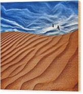 Dune Raven Sky Wood Print