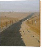 Dune Road Wood Print