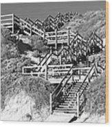 Dune Steps 02 Wood Print