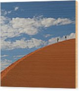 Dune Walkers Wood Print