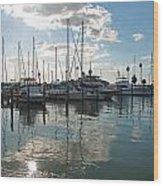 Dunedin Harbor Wood Print