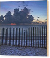 Dunes At Dawn Wood Print