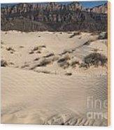 Dunes At The Guadalupes Wood Print