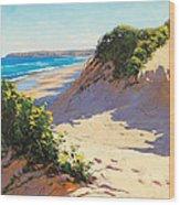 Dunes Central Coast Wood Print
