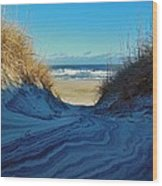 Dunes Sand Art By Mother Nature 2/08 Wood Print