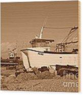 Dungeness Fishing Boats Wood Print