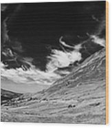 dunlewey glen valley lakes and errigal mountain Gweedore county Donegal Republic of Ireland Wood Print