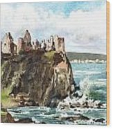 Dunluce Castle Antrim N I Wood Print