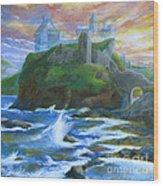 Dunscaith Castle - Shadows Of The Past Wood Print