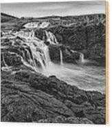 Dunseverick Waterfall Wood Print