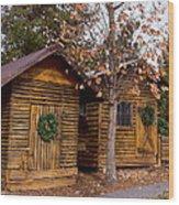 Dunwoody Farmhouse Cabins Wood Print