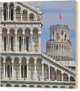 Duomo And Campanile Wood Print