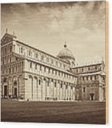 Duomo And Tower Wood Print