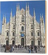 Duomo In Milano. Italy Wood Print by Antonio Scarpi