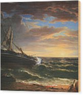 Durand's The Stranded Ship Wood Print