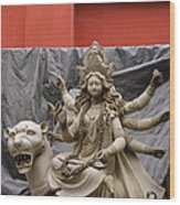 Durga In Kumartuli Wood Print