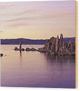 Dusk At Mono Lake Wood Print