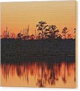 Dusk At Pocosin Lakes Wood Print
